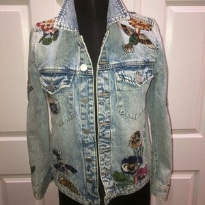 BLANKNYC Embroidered Jean jacket Sz small